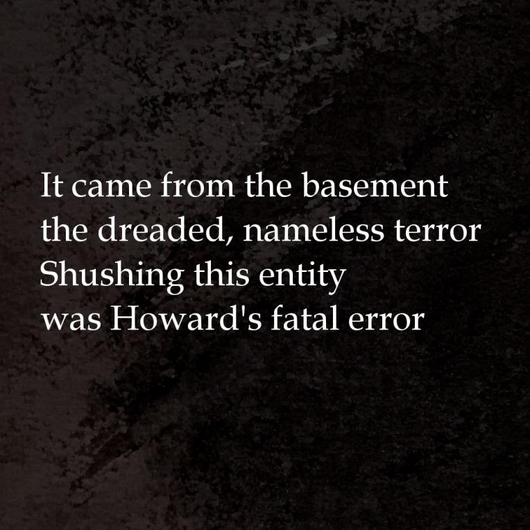 Lovecraft Cthulhu mythos poem rhyme Halloween 2017 by mrkessell