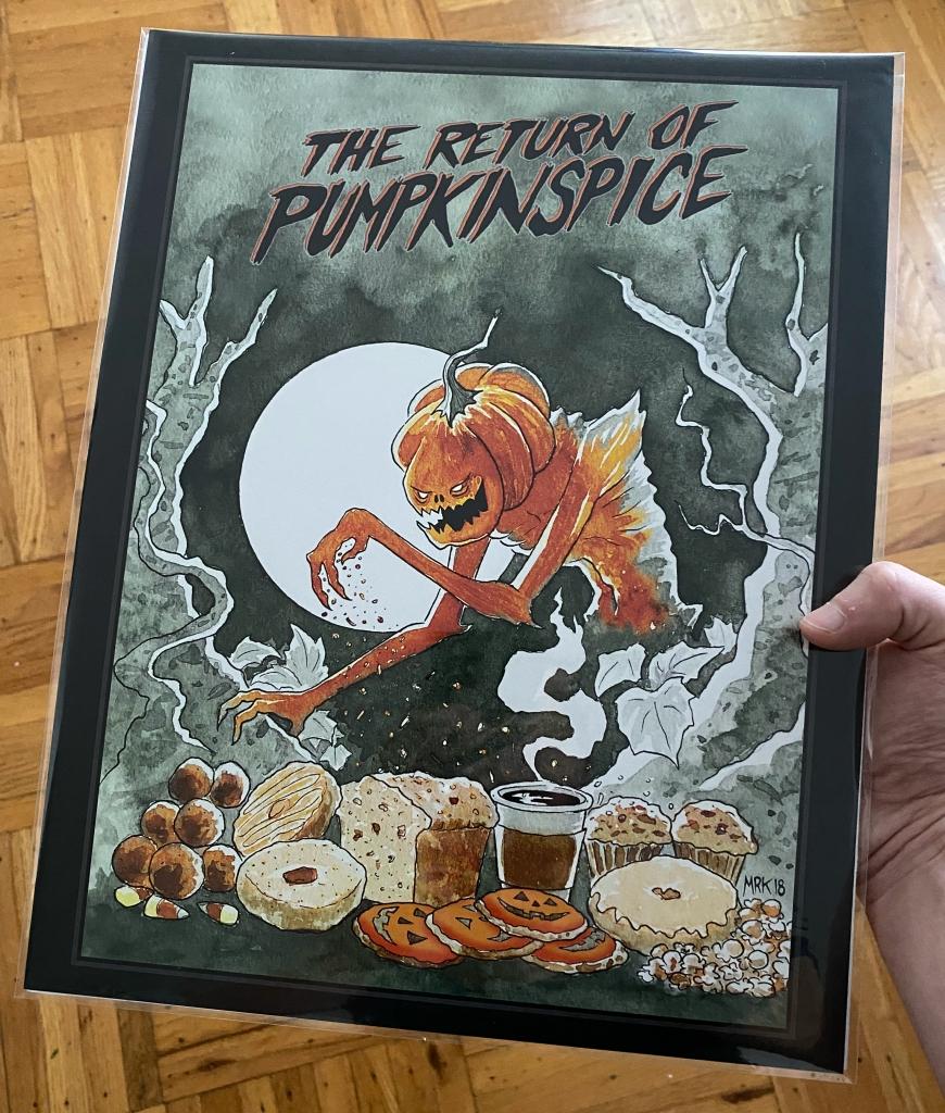 The Return of Pumpkinspice, 11x14 print by M.R. Kessell